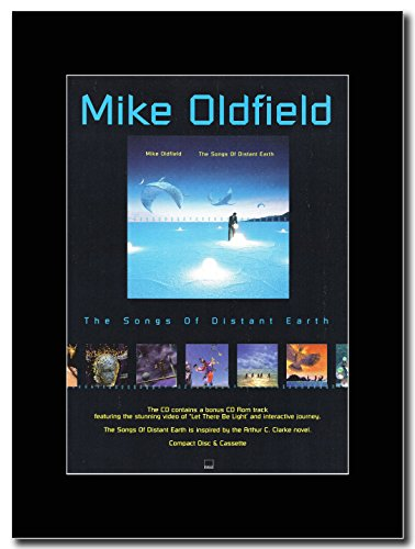 Mike Oldfield-le canzoni di Distant Earth... L' album Magazine promo su una montatura nero