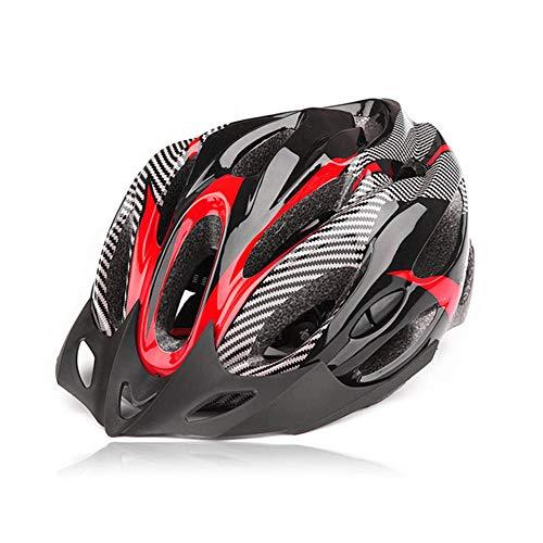 Sguan-wu Fashion Carbon Fiber Shockproof Einstellbare Mountainbike Fahrrad Fahrradhelm - Rot