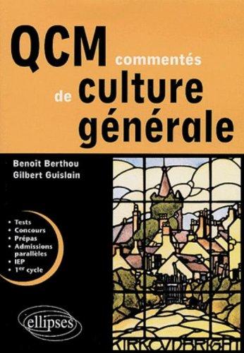 QCM commentés de culture générale