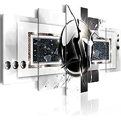 B&D XXL murando Impression sur Toile intissee 200x100 cm 5 Pieces Tableau Tableaux Decoration Murale Photo Image Artistique Photographie Graphique Abstraction Abstrait h-A-0001-b-m