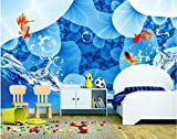 Papel tapiz 3D Papel tapiz fotográfico personalizado para niños en la habitación aerosol de algas doradas pintura 3D sofá TV papel tapiz de fondo, 300 * 210 cm