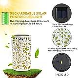 RenFox LED Solar Lantern Farol Solar para Exteriores, IP44 Impermeable, decoración de Jardín Patio