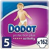 Dodot Protection Plus Activity - Pañales para bebé, Talla 5 (11-16 kg),  162 Pañales