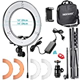 Neewer 36cm Exterior LED Anillo de Luz 36W 5500K con Soporte de Luz Kit: Tubo Filtro de Color Adaptador de Zapata Caliente Receptor Bluetooth para Disparo Cámara Youtube Video