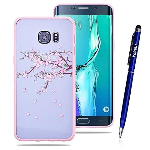 Für Samsung Galaxy S6 edge Plus, Rosa Bumper Hülle Rückseite
