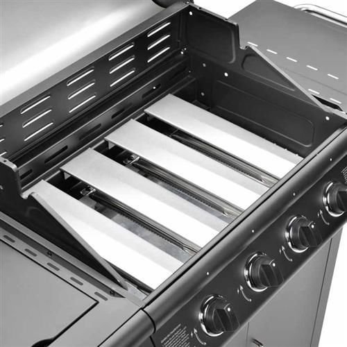 FirePlus 4+1 Gas Burner Grill BBQ Barbecue incl. Side Burner - Black