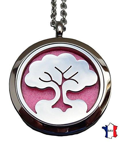 Bijou Pendentif Diffuseur de Parfum ou d'Huiles essentielles aux 4 couleurs. Fermoir magnétique; PE01 Livraison rapide avec suivi.