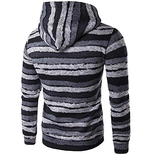 WanYang Uomo Maglione Felpa Con Cappuccio Hoodie Sweater Modello Diversi Colori Moda Felpa Con Cappuccio Manica Lunga Pullover In Maglia Grigio