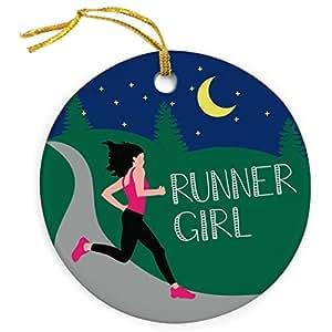 Läufer Mädchen Schmuck | Running Porzellan Ornaments von Gone für die Run | mehrere Farben