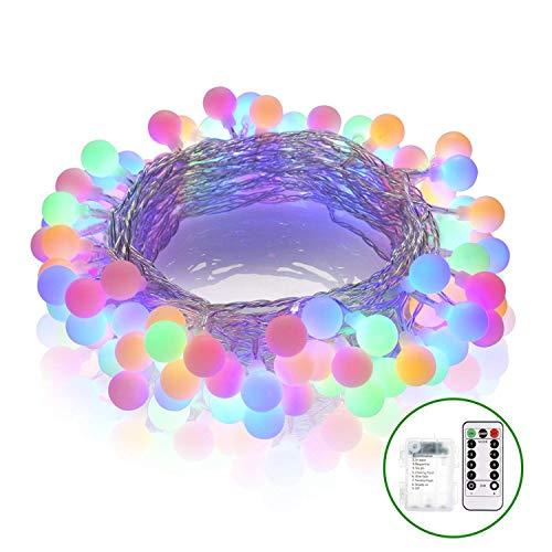 Xinfang Light Strings, 50 Outdoor-LED-Leuchten im Freien, batteriebetriebene String Licht wasserdicht, 18 Fuß, Garten Licht Saiten mit Fernbedienung Patio Garden Party Hochzeit Dekoration