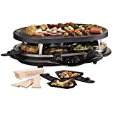 Cooks Professional Raclette, Large Grill Area for Healthier Cooking, Non-Stick Top with Thermostatic