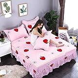 MK Blume Bettrock,Einfache Ziehpaletten,Staubdichte Atmungsaktive Bettdecke 1.8m Bettlaken-C 180x200cm(71x79inch)