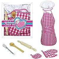 guoyy niños herramientas de cocina para horno Chef sombrero delantal guante batería de huevos rodillo de