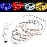 Dream Edge LED Ruban LED USB lumière de Bande TV PC Fond rétro-éclairage for la décoration 2M SMD2835 DC 5V Convient pour Chambre Salon Cage d'escalier (Couleur : Red)