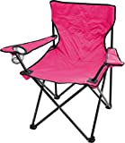 normani Robuster Camping Outdoor Angler Klappstuhl Outdoor Farbe Rosa mit Armlehne