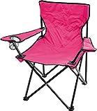 normani Campingstuhl Faltstuhl Klappstuhl Anglerstuhl Getränkehalter Stuhl Gartenstuhl für den Sommer Farbe Rosa mit Armlehne