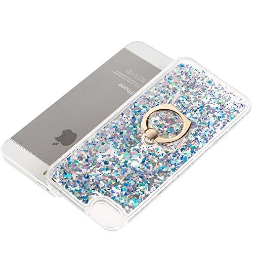 iPhone 6S Plus Silicone Coque,iPhone 6S Plus (Not Pour iPhone 6S/6 4.7 Pouce)Bling Diamant Coque en Silicone Coque Clair,EMAXELERS iPhone 6 Plus / 6S Plus Silicone Case Silver Slim Soft Gel Cover with G Diamond Liquid 3