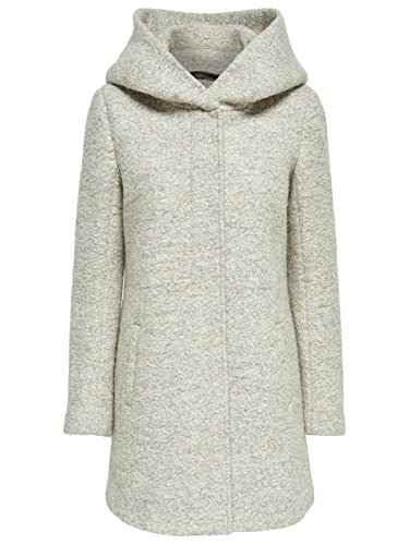 ONLY Damen Mantel Onlindie Noma Wool Coat CC Otw, Beige (Simply Taupe Detail:Melange), 36 (Herstellergröße: S)