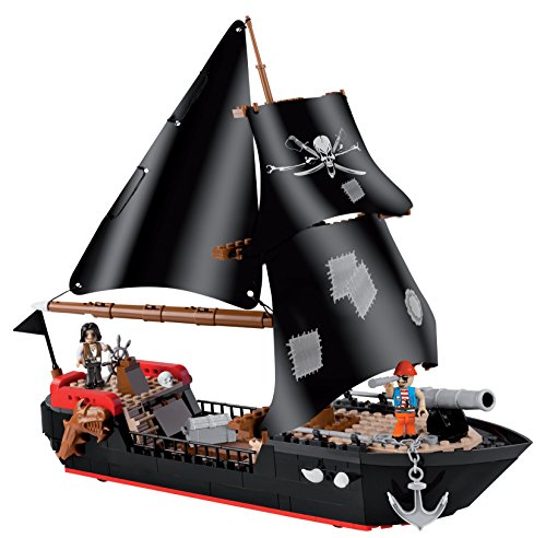 Cobi 6020 Spielzeug Corsair Ship, Schwarz, Braun, Beige, Rot