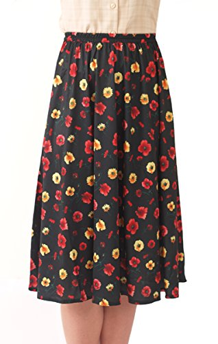 Fashion Friendly Ladies Elasticated Waist Skirt - 8 Great Patterns - Sizes 8-36