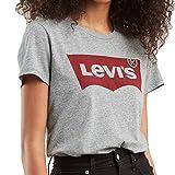 Levi's Damen The Perfect Tee T-Shirt, Grau (Better Batwing Smokestack Smokestack Ht 0263), XX-Small