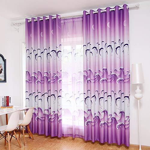 Xpy-curtain tende a drappeggio parasole parasolefinito blackoutsemplice moderno camera da letto dal pavimento al soffitto finestra piana soggiorno, 150, b