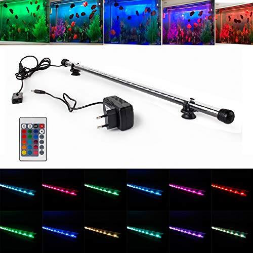 SPEED Aquarium Mondlicht SMD LED Lampe Wasserdicht Aquarium Beleuchtung Tageslichtsimulator RGB / Blau&Weiß / kaltweiß (28-110CM) RGB 38cm - Speed-fernbedienung