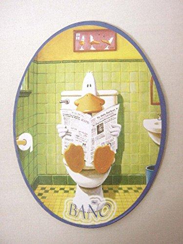 placa-madera-adhesiva-cartel-puerta-letrero-oval-bano-aseo-servicio-wc-pato-sentado