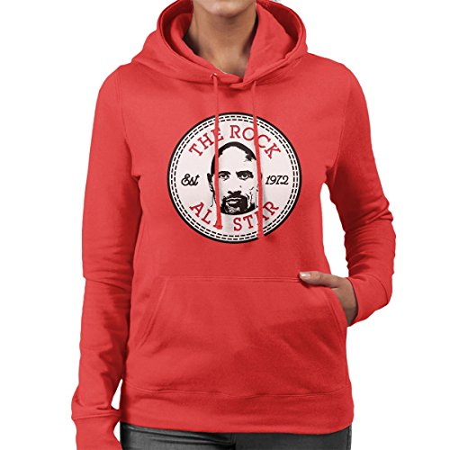 Dwayne The Rock Johnson All Star Converse Logo Women's Hooded Sweatshirt Red