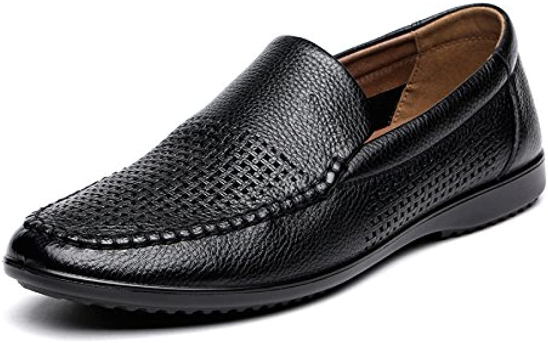 Chi Cheng Fang Electronic business Männer Stricken Slipper Sandalen Koreanische Version der Leder Strand Schuhe