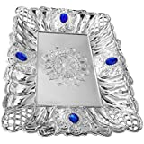 Ekan Decorative Trays For Centre Table, Decorative Trays For Gifting, Tray For Gift Packing, Tray Silver, Pack Of 1 (Model No - 10993)