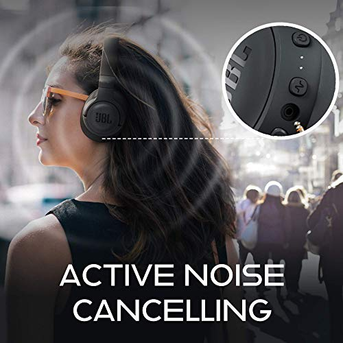 JBL Tune 750BTNC Over-Ear Wireless Active Noise-Cancelling Headphones with 15 Hours Playtime (Black) Image 2