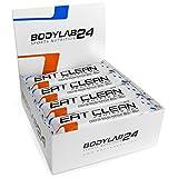 Bodylab24 Eat Clean Protein Riegel, Geschmack: Cookie Dough, hochwertiger Fitness Proteinriegel, Low Carb, mit wertvollen Ballaststoffen, 12 x 65g Box