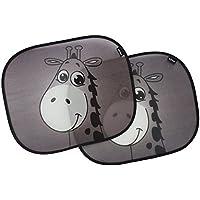 EZ-Bugz Parasol lateral para coche, dibujo de jirafa ntilde;os, 2unidades, Color Negro, universal