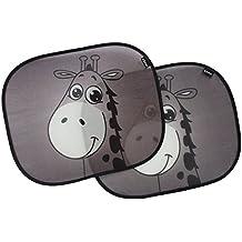 Panel Parasol lateral para coche, dibujo de jirafa EZ-Bugz para los niños, 2unidades) Color Negro, tendón de sol