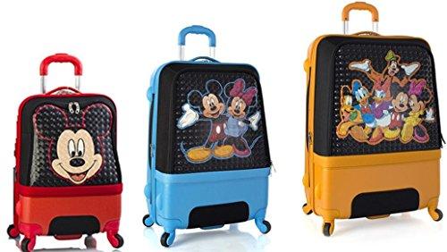 Preisvergleich Produktbild Kofferset,  Gepäckset,  Reisegepäck by Heys - Premium Designer Hartschalen Kofferset 3 TLG. - Disney Clubhouse Handgepäck + Koffer mit 4 Rollen Medium + Koffer mit 4 Rollen Gross