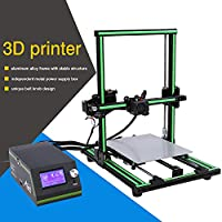 Aluminum Frame 3D Printer DIY Kit, Large Printing Size 220x270x300mm, Easy Assemble with Heated Bed High Accuracy Free Testing Filament and Tool Set