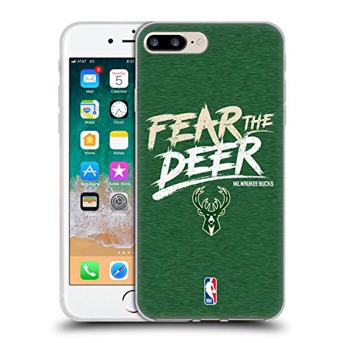 Head Case Designs Offizielle NBA Bucks Fear The Deer 2018/19 Team Slogan Soft Gel Hülle für iPhone 7 Plus/iPhone 8 Plus Nba-team Iphone