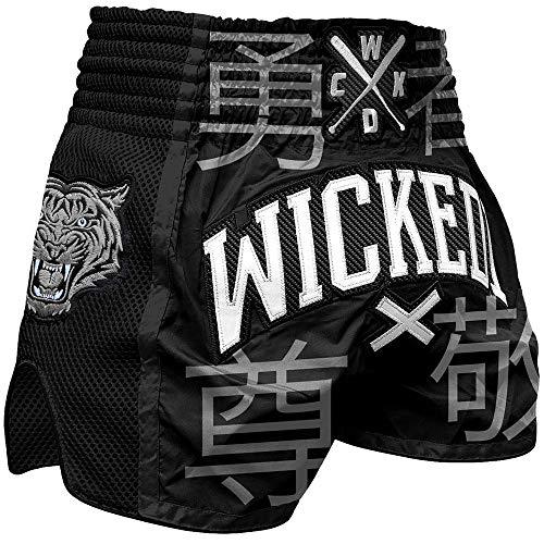 Wicked One Muay Thai Shorts, Japan, schwarz Größe M - Schwarz Japan