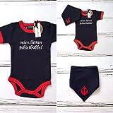 Set 'Schietbüddel' - Baby-Body & Halstuch Anker - fair - maritime Babykleidung, Babystrampler