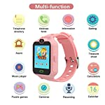 PHRtoy Smart Phone Watch For Kids Unlocked Cell Phone Watch With Anti Lost SOS Camera Alarm Games Smart Watch Nice Birthday For Kids Boys And Girls