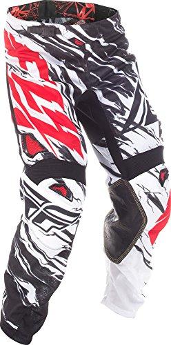 Fly Racing & Motocross Mesh Hose schwarz-weiß-rot Fahrerhose -