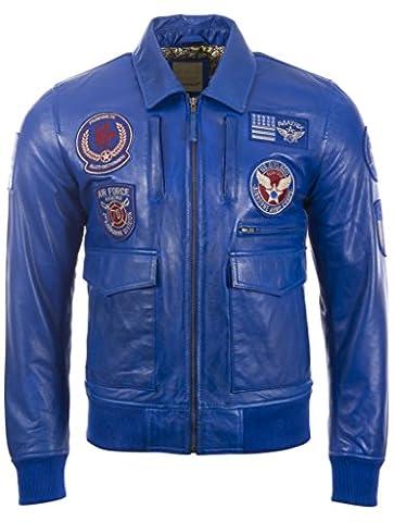 Hommes très élégante 100% Veste de bombardière en cuir Super-Soft