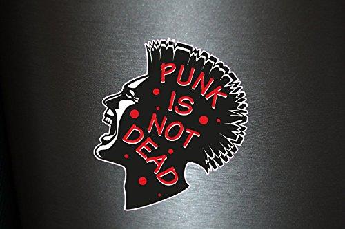 Preisvergleich Produktbild 1 x Aufkleber Punk Is A Not Dead Rock & Roll Music Sond DJ Club Party Music