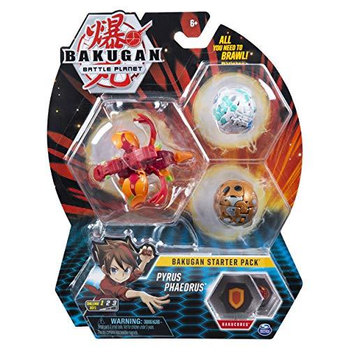 Bakugan 6045144 - Starter Pack mit 3 Bakugan (1 Ultra & 2 Basic Balls) unterschiedliche Varianten