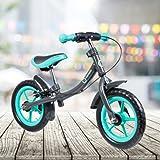 FRX Kinderfahrrad Balance Bike Türkis 12 Zoll Reifen Haltbares und langlebiges Metalldesign ergonomischer Sitz Praktischer Ständer Kids Bike Kids Bycicle Lauflernrad Laufrad Lernrad Lernfahrrad Kinderrad Kinderlaufrad Balancerad (Türkis)