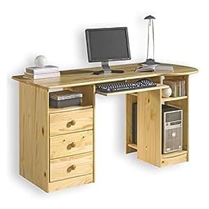Schreibtisch bob computertisch pc schreibtisch kiefer for Schreibtisch amazon