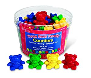 Learning Resources Kit d'ours À Compter Three Bear Family De - 4 couleurs -