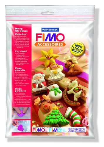 Staedtler 8742 Fimo - Stampo d'argilla, tema: felice Natale