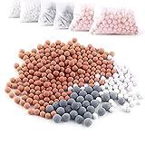 Austor 6 packs de iones negativos de bolas de mineral, piedra para reemplazo bio - activo filtro iónico cabezal de ducha de mano, purifica el agua de la ducha que rejuvenece la piel y el cabello